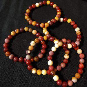 Unisex Mookaite Bead Bracelets